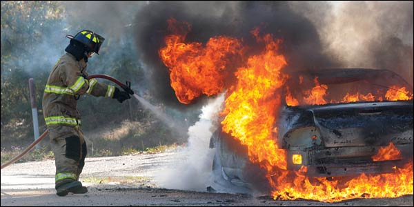 Vehicle Fires: Control the Burning Mass